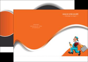 creation graphique en ligne pochette a rabat plomberie travail travailleur casquette MIS29593