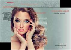 personnaliser modele de depliant 3 volets  6 pages  centre esthetique  beaute bien etre coiffure MLGI29597