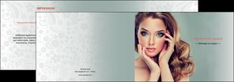 creation graphique en ligne depliant 2 volets  4 pages  centre esthetique  beaute bien etre coiffure MLGI29611