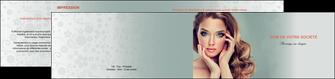 personnaliser maquette depliant 2 volets  4 pages  centre esthetique  beaute bien etre coiffure MLGI29613