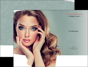 creation graphique en ligne pochette a rabat centre esthetique  beaute bien etre coiffure MLGI29617