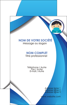 personnaliser modele de carte de visite infirmier infirmiere medecin medecine sante MLGI29629