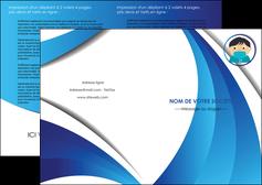personnaliser maquette depliant 2 volets  4 pages  infirmier infirmiere medecin medecine sante MIF29639