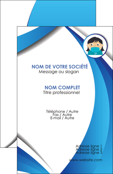 cree carte de visite infirmier infirmiere medecin medecine docteur MIF29709