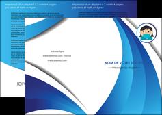 maquette en ligne a personnaliser depliant 2 volets  4 pages  infirmier infirmiere medecin medecine docteur MLGI29719