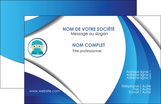 maquette en ligne a personnaliser carte de visite infirmier infirmiere medecin medecine docteur MIF29851