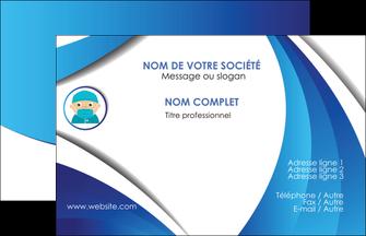 maquette en ligne a personnaliser carte de visite infirmier infirmiere medecin medecine docteur MLGI29851
