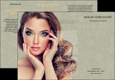 creation graphique en ligne depliant 3 volets  6 pages  centre esthetique  beaute bien etre coiffure MLGI29863