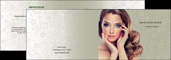 personnaliser maquette depliant 2 volets  4 pages  centre esthetique  beaute bien etre coiffure MLGI29875