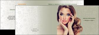 maquette en ligne a personnaliser depliant 2 volets  4 pages  centre esthetique  beaute bien etre coiffure MLGI29877