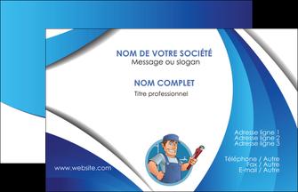 Cree Carte De Visite Plomberie Travail Travailleur Casquette MLGI29923