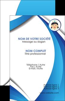 creer modele en ligne carte de visite infirmier infirmiere medecin medecine docteur MIF30009