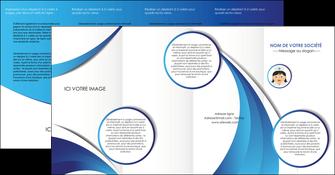 modele depliant 4 volets  8 pages  infirmier infirmiere medecin medecine docteur MIF30011