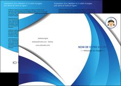 faire modele a imprimer depliant 2 volets  4 pages  infirmier infirmiere medecin medecine docteur MIF30019