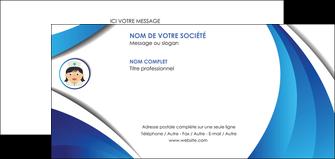 maquette en ligne a personnaliser carte de correspondance infirmier infirmiere medecin medecine docteur MIF30029