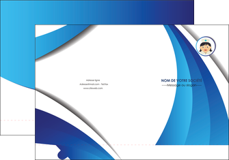 creer modele en ligne pochette a rabat infirmier infirmiere medecin medecine docteur MIF30037