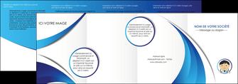maquette en ligne a personnaliser depliant 4 volets  8 pages  medecin medecin medecine docteur MLGI30131