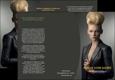 faire depliant 3 volets  6 pages  centre esthetique  coiffure beaute salon MLGI30215