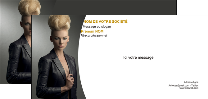 exemple carte de correspondance centre esthetique  coiffure beaute salon MLGI30223