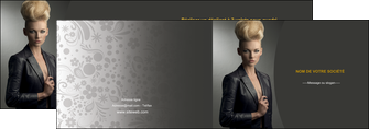 imprimer depliant 2 volets  4 pages  centre esthetique  coiffure beaute salon MLGI30227