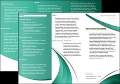 creation graphique en ligne depliant 3 volets  6 pages  infirmier infirmiere medecin medecine sante MIF30373