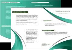 modele depliant 2 volets  4 pages  infirmier infirmiere medecin medecine sante MIF30391