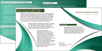 creer modele en ligne depliant 2 volets  4 pages  infirmier infirmiere medecin medecine sante MID30393