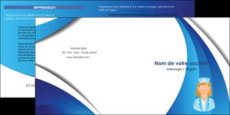 creer modele en ligne depliant 2 volets  4 pages  infirmier infirmiere infirmiere infirmerie blouse MLGI30471