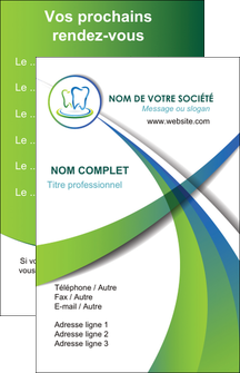 modele carte de visite dentiste dents dentiste dentier MLGI30509