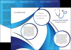 creer modele en ligne depliant 3 volets  6 pages  materiel de sante medecin medecine docteur MLGI30557