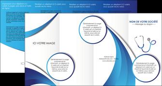 personnaliser maquette depliant 4 volets  8 pages  materiel de sante medecin medecine docteur MLIG30569