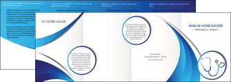 personnaliser modele de depliant 4 volets  8 pages  materiel de sante medecin medecine docteur MLIG30573