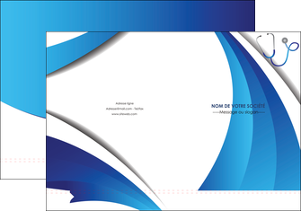 imprimerie pochette a rabat materiel de sante medecin medecine docteur MLIG30593
