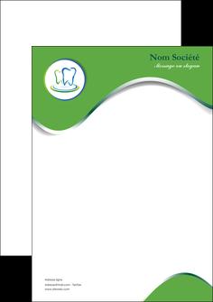 personnaliser modele de tete de lettre dentiste dents dentiste dentier MLGI30655