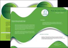 modele depliant 2 volets  4 pages  dentiste dents dentiste dentier MLGI30659