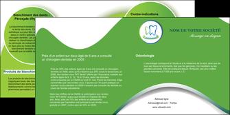 personnaliser maquette depliant 2 volets  4 pages  dentiste dents dentiste dentier MLGI30661