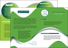 faire modele a imprimer depliant 2 volets  4 pages  dentiste dents dentiste dentier MLGI30663