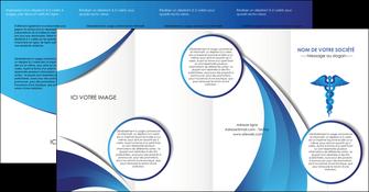 personnaliser modele de depliant 4 volets  8 pages  chirurgien medecin medecine sante MIS30707