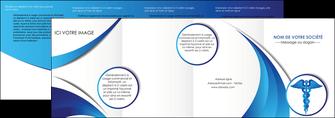 personnaliser maquette depliant 4 volets  8 pages  chirurgien medecin medecine sante MIS30711