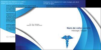 exemple depliant 2 volets  4 pages  chirurgien medecin medecine sante MIS30725