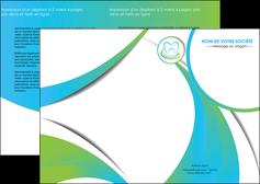 imprimer depliant 2 volets  4 pages  dentiste dents dentiste dentier MLGI30795