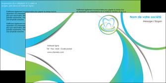 creation graphique en ligne depliant 2 volets  4 pages  dentiste dents dentiste dentier MLGI30807