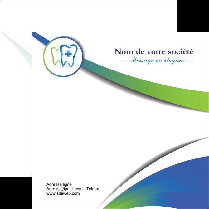 maquette en ligne a personnaliser flyers dentiste dents dentiste dentier MLGI30845
