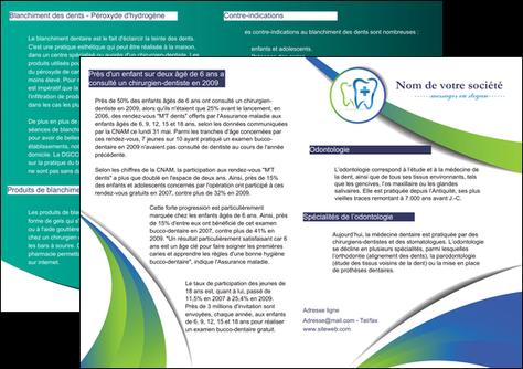 modele en ligne depliant 2 volets  4 pages  dentiste dents dentiste dentier MLGI30847