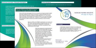 personnaliser maquette depliant 2 volets  4 pages  dentiste dents dentiste dentier MLGI30849