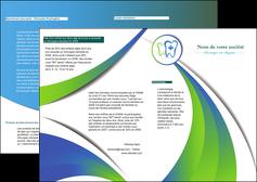 modele en ligne depliant 2 volets  4 pages  dentiste dents dentiste dentier MLGI30855