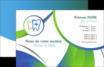 personnaliser maquette carte de visite dentiste dents dentiste dentier MLGI30861