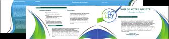 maquette en ligne a personnaliser depliant 2 volets  4 pages  dentiste dents dentiste dentier MLGI30871