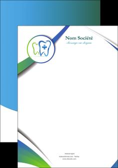 exemple tete de lettre dentiste dents dentiste dentier MLGI30879