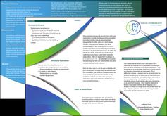 personnaliser modele de depliant 3 volets  6 pages  dentiste dents dentiste dentier MLGI30883